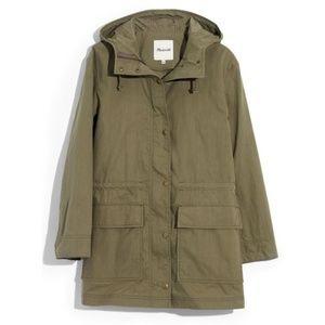 NWT Madewell Anorak Green Raincoat